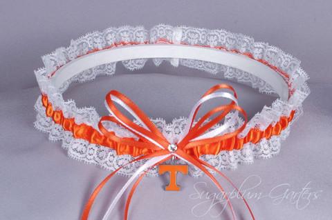 University of Tennessee Volunteers Lace Wedding Garter
