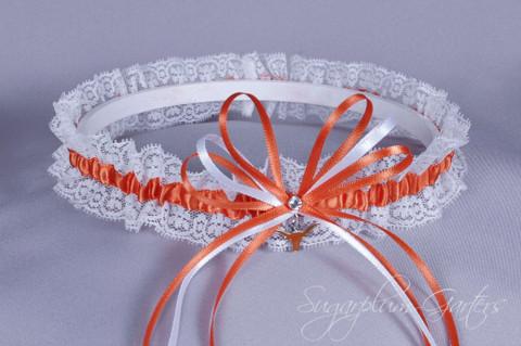 University of Texas Longhorns Lace Wedding Garter