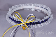 West Virginia University Mountaineers Lace Wedding Garter