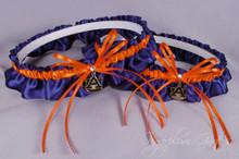 Auburn University Tigers Matching Wedding Garter Set