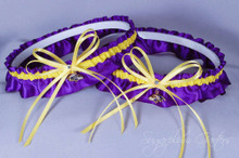 Baltimore Ravens Matching Wedding Garter Set