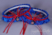 Chicago Cubs Matching Wedding Garter Set