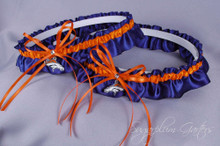 Denver Broncos Matching Wedding Garter Set