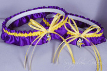 Minnesota Vikings Matching Wedding Garter Set