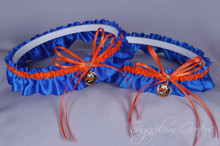 New York Islanders Matching Wedding Garter Set
