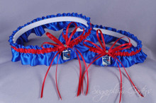 New York Rangers Matching Wedding Garter Set