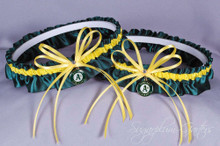 Oakland Athletics Matching Wedding Garter Set