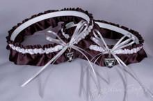 Oakland Raiders Matching Wedding Garter Set