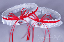 Philadelphia Phillies Matching Wedding Garter Set