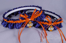 University of Illinois Fighting Illini Matching Wedding Garter Set