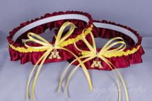 University of Minnesota Golden Gophers Matching Wedding Garter Set