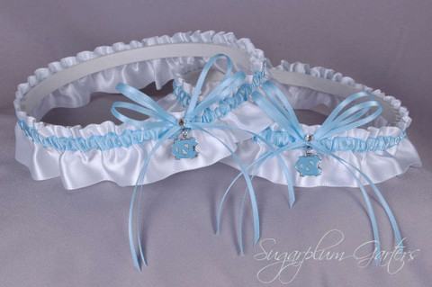 University of North Carolina Tar Heels Matching Wedding Garter Set