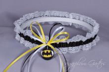 Batman Lace Wedding Garter