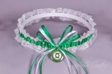 Green Lantern Lace Wedding Garter