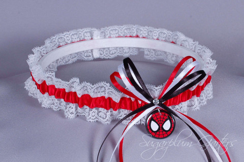 Spider-Man Lace Wedding Garter
