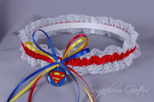 Superman Lace Wedding Garter