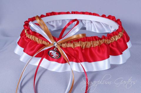 San Francisco 49ers Classic Wedding Garter