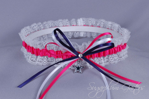 Dallas Cowboys Lace Wedding Garter