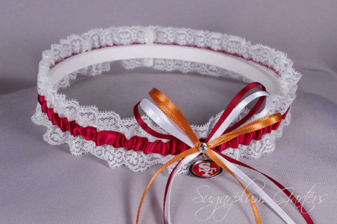 San Francisco 49ers Lace Wedding Garter