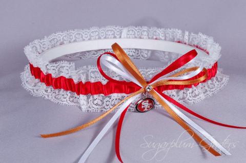San Francisco 49ers Lace Wedding Garter