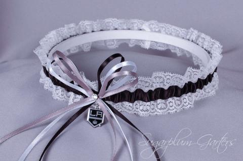 Los Angeles Kings Lace Wedding Garter
