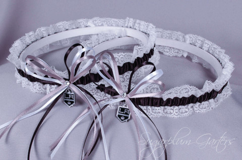 Los Angeles Kings Lace Wedding Garter Set