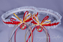 United States Marines Lace Wedding Garter Set