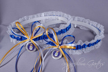 United States Air Force Lace Wedding Garter Set