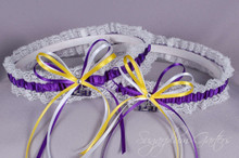 Custom NCAA Lace Wedding Garter Set ~ Pick Your School