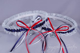 Washington Nationals Lace Wedding Garter Set