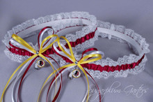 Washington Redskins Lace Wedding Garter Set