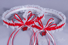 University of Wisconsin Badgers Lace Wedding Garter Set