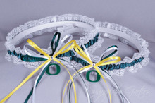 University of Oregon Ducks Lace Wedding Garter Set