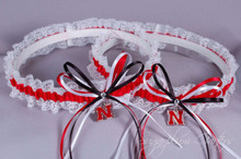 University of Nebraska Cornhuskers Lace Wedding Garter Set