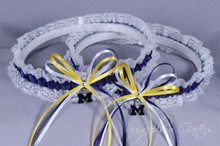 University of Michigan Wolverines Lace Wedding Garter Set