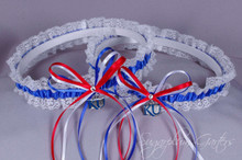 University of Kansas Jayhawks Lace Wedding Garter Set