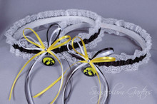 University of Iowa Hawkeyes Lace Wedding Garter Set