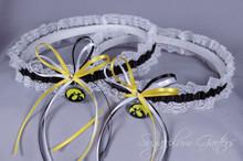 University of Iowa Hawkeyes Lace Wedding Garter Set