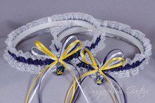 University of California, Berkeley Golden Bears Lace Wedding Garter Set