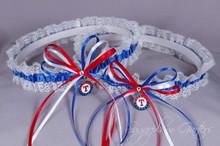 Texas Rangers Lace Wedding Garter Set