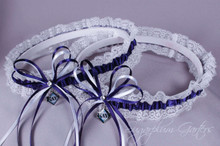 Tampa Bay Rays Lace Wedding Garter Set