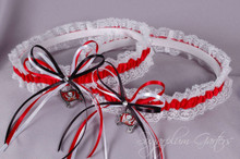 Tampa Bay Buccaneers Lace Wedding Garter Set