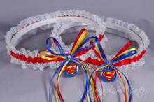 Superman Lace Wedding Garter Set