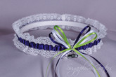 Seattle Seahawks Lace Wedding Garter