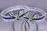Seattle Seahawks Lace Wedding Garter Set