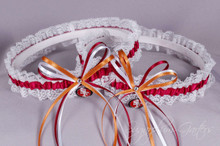 San Francisco 49ers Lace Wedding Garter Set