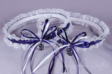 San Diego Padres Lace Wedding Garter Set