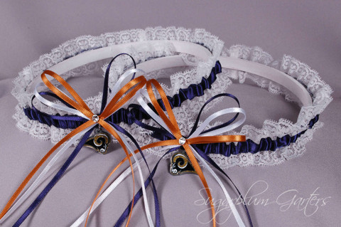 Los Angeles Rams Lace Wedding Garter Set