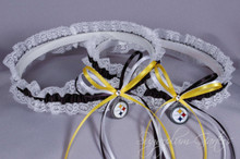 Pittsburgh Steelers Lace Wedding Garter Set