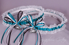 Philadelphia Eagles Lace Wedding Garter Set